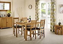 Julian Bowen Oak Dining Table & Chairs